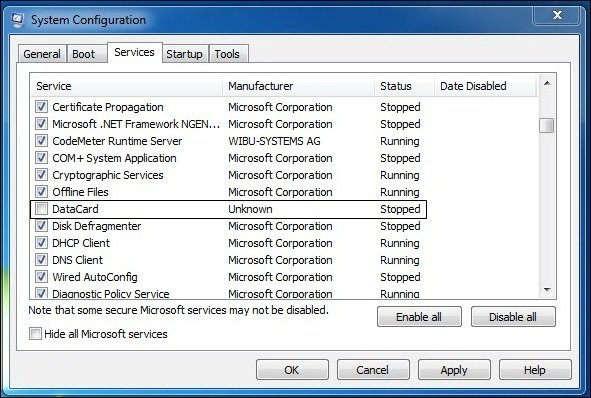 Disabling Suspicious Services In Task Manager