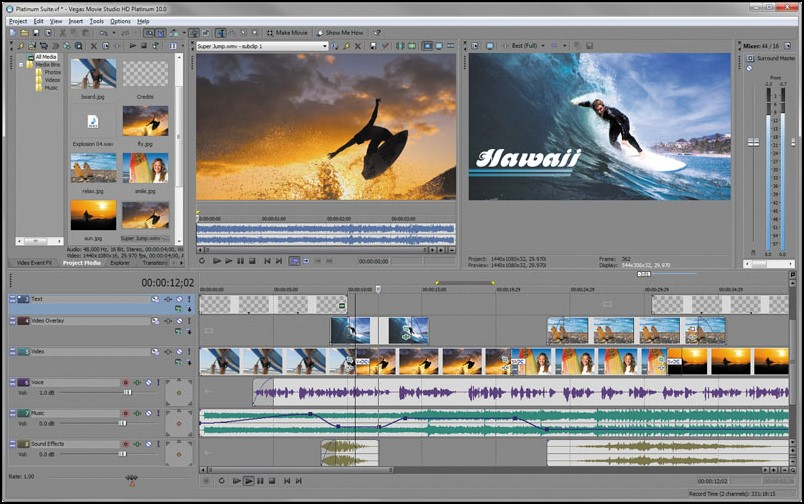 برنامج Sony Vegas Movie Studio