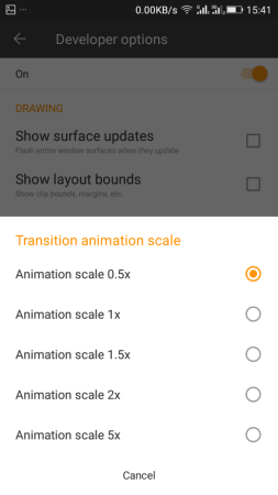 Adjusting Animation scales