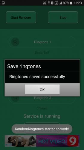 Using Random Ringtone