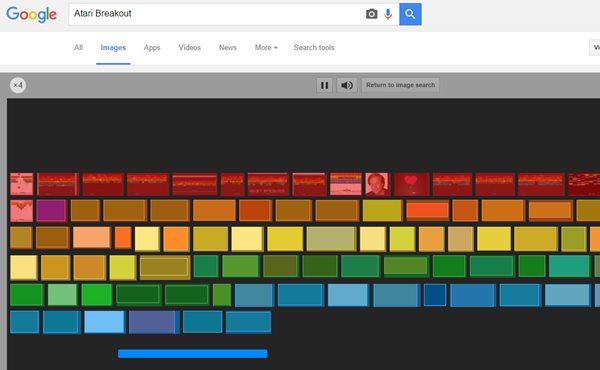 Atari Breakout - hidden games on google search