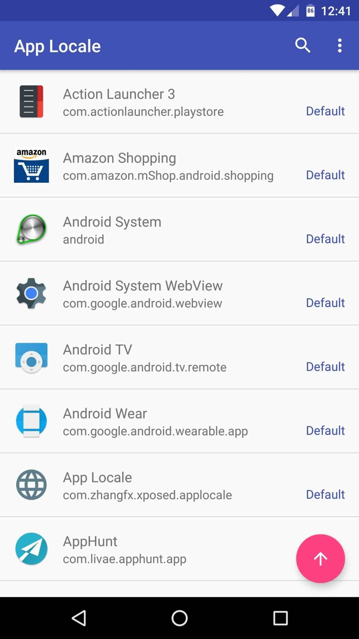 List of apps installed on your device