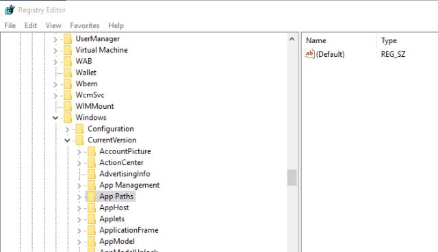 Using Registry Edit