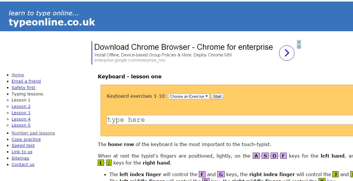 Type Online