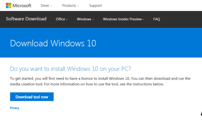 Vuoi installare Windows 10 sul tuo PC?