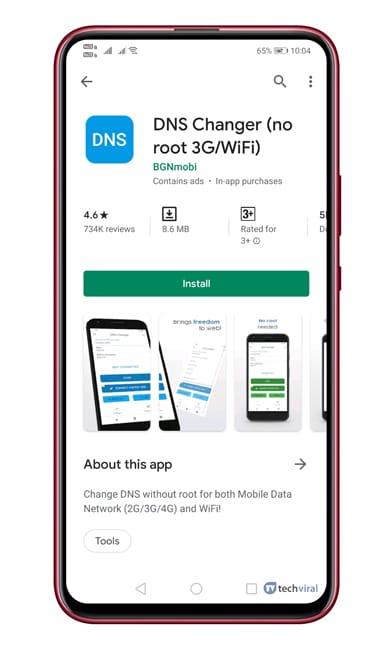 Menggunakan DNS Changer (Android)