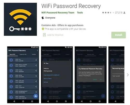 قم بتنزيل وتثبيت تطبيق Wifi Password Recovery