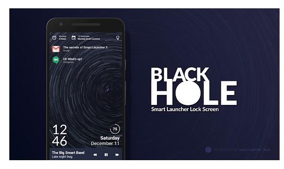 Black Hole - Lock screen