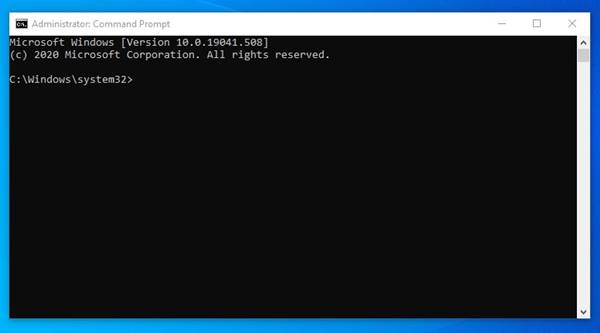 Elevated Command Prompt with administrative rights