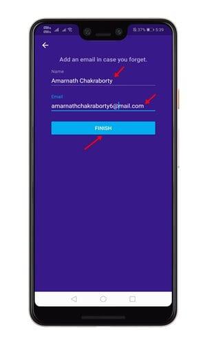 create an account with KeepSafe