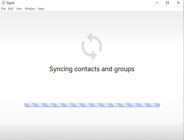 wait until the desktop app syncs contacts and groups