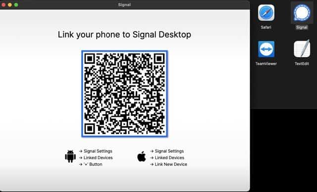 link your phone to the Signal desktop app