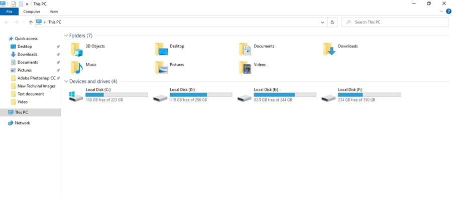 open file explorer on your Windows 10
