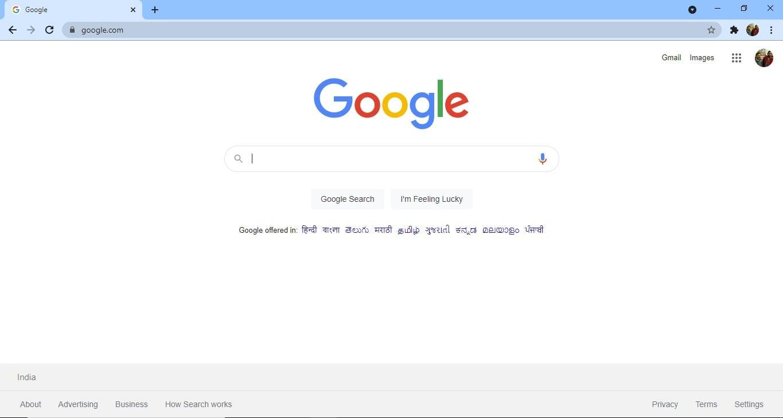 Open Google Chrome Browser