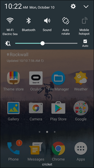 Android Quick Settings Panel