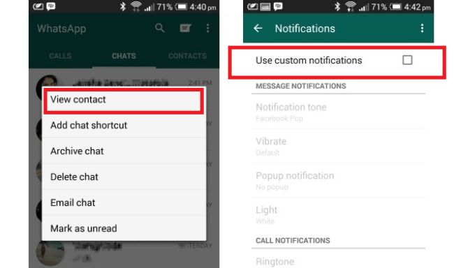 Customize notifications