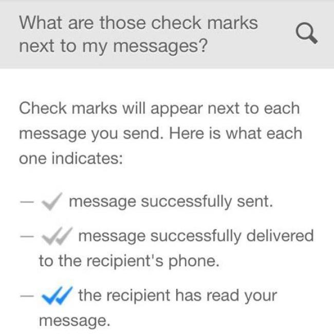 Find out when your message has been read