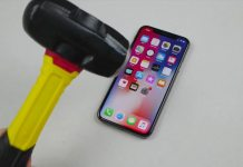 Watch an iPhone X get hit with a hammer and stabbed with a knife