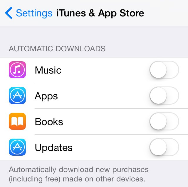 How to speed up a slow iPhone: Automatic downloads