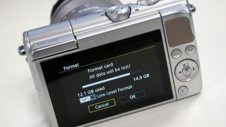 Check/format the memory card