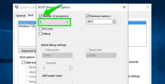 select number of processor