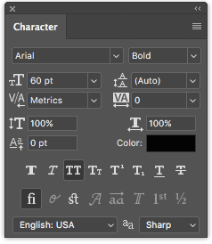 How to Add and Edit Text in Adobe Photoshop Photoshop Character Panel