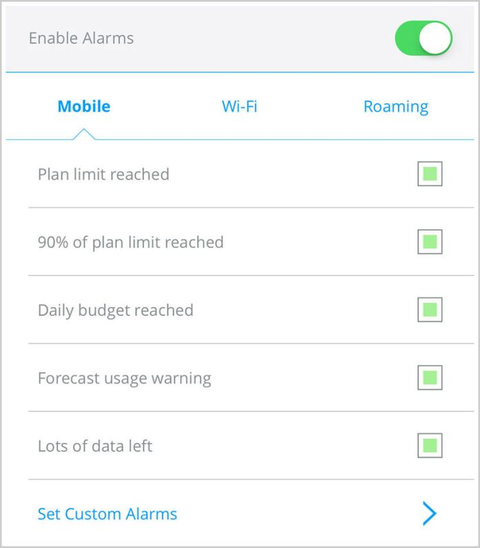 enable alarm