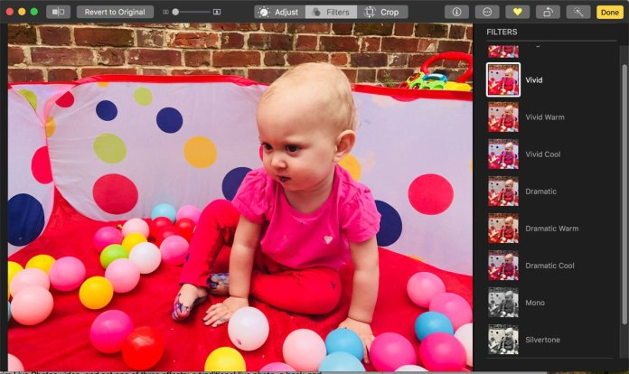 How to use Photos app for Mac: Filters