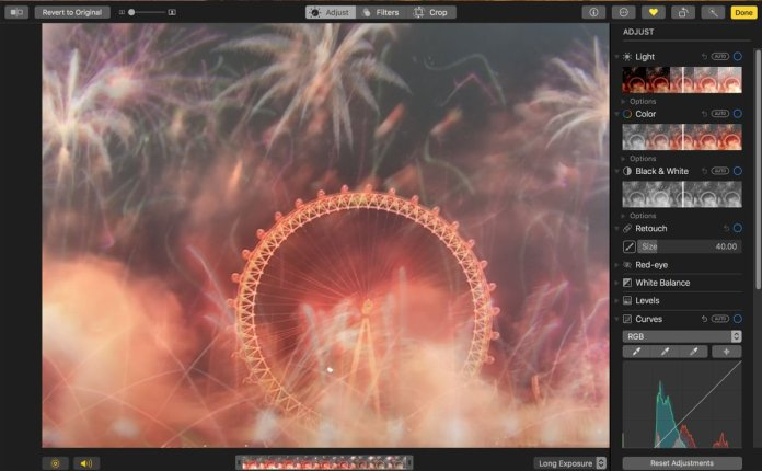How to use Photos app for Mac: Long exposure