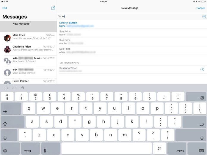 How to send a text from an iPad: iMessage