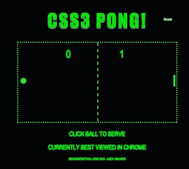 ありえない。CSS3だけで作った脅威のPONG 【増田 @maskin】 | TechWave(テックウェーブ)