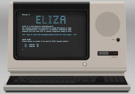 元祖チャットロボット「ELIZA」復活、HTML5 音声I/O のデモ 【@maskin】