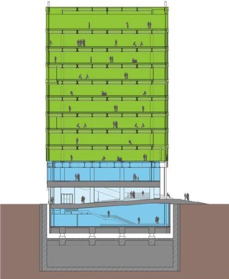 LINEが博多駅前に自社ビル建造、B1Fから2Fまでは図書館 無線LAN開放も【@maskin】