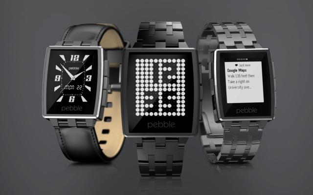 スマホ連携腕時計「Pebble」に高級モデル登場、アプリストアは1/9オープン   【増田 @maskin】  #ces2014