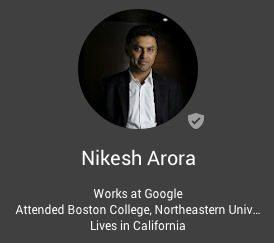 Google 最高事業責任者 ニケシュ・アローラ氏が10月にソフトバンクへ 【@maskin】