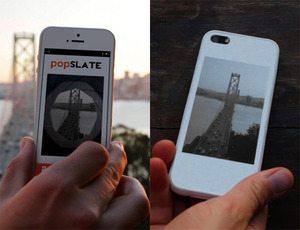 電子ペーパーディスプレイを搭載した iPhone 5 ケース「popSLATE」【増田 @maskin】
