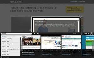 米Yahoo!が「Yahoo! Axis」投入、iOS/PCで統合的に使用できる検索&ブラウズ支援ツール 【増田 @maskin】