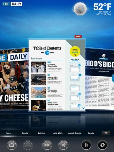 ジョブズ氏「ニュース体験を再定義」、iPad初の定期購読紙「The Daily」レビュー(2/2) 【増田(@maskin)真樹】