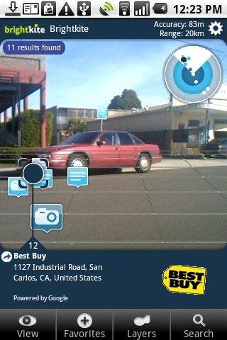 BrightkiteがAR(拡張現実)技術を使った広告開始