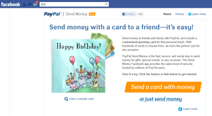 Facebook上でPayPalの個人間送金が可能に【湯川】