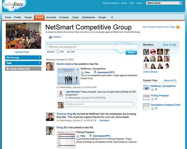 SalesforceがBtoB型企業向けSNS=「つぶやき」はビジネスを変える