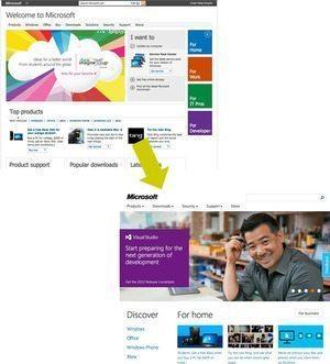 """マイクロソフトのホームページが """"Windows 8"""" 化 【増田 @maskin】"""