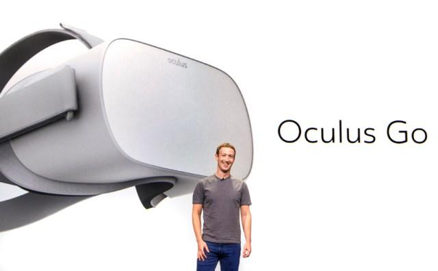 ザッカーバーグ氏が「Oculus Go」を発表 ー 199ドルのVRヘッドセット
