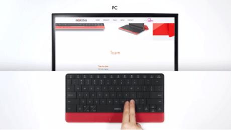 表面がタッチパッドになる注目のキーボード「Mokibo」、クラウドファンディング終了4年目の正直となるか
