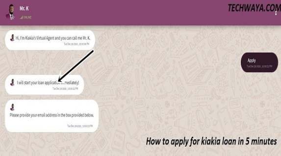 How to apply for kiakia loan in 5 minutes