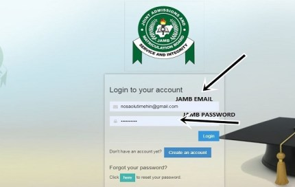 Supply Jamb email and password