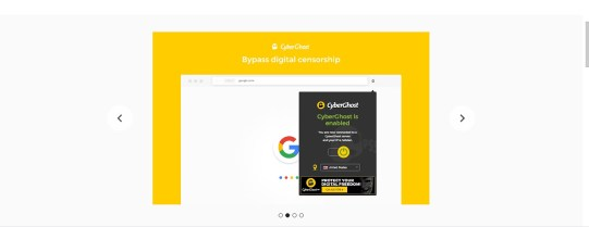 Free VPN for Chrome extension Cyberghost