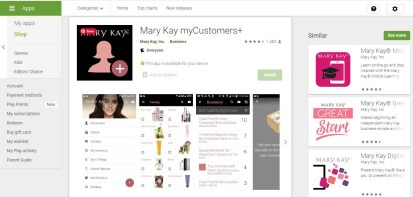 mary kay intouch app for android