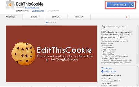Edit this cookies