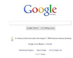 google, august 7th bombings, 7th memorial, google kenya